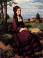 Pál Szinyei Merse:Lady in Violet, 1874